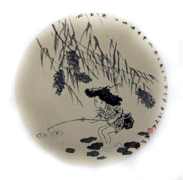 东港市美协名誉主席陈华民长卷及团扇再次被成功美术馆收藏